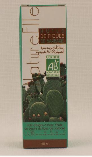 HUILE D'ARGAN À BASE D'HUILE DE PÉPINS DE FIGUE DE BARBARIE 60ML