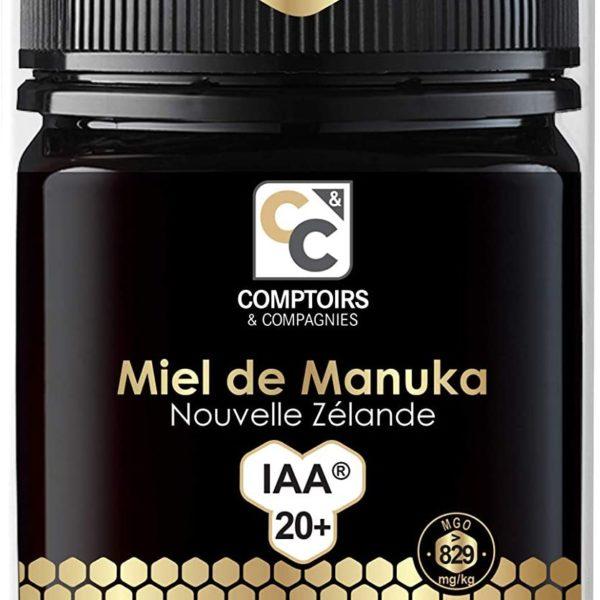 MIEL DE MANUKA ACTIF | IAA20+ (MGO829+) | 250 Grammes