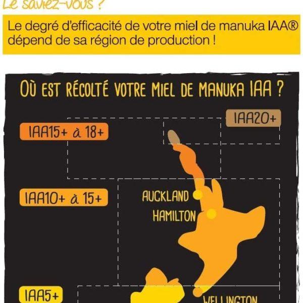 MIEL DE MANUKA ACTIF | IAA15+ (MGO514+) | 250 Grammes