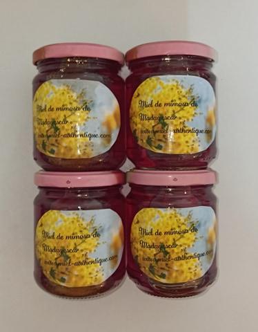 miel sauvage de mimosa de madagascar 250g  3 achetés le 4ème gratuit