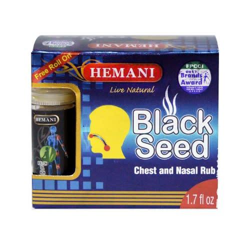 Hemani VAPORUB aux graines noires naturelles avec huile de massage aux herbes noires au cumin