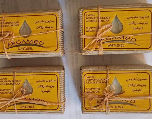 Savon dermatologique à l'huile d'argan 3 achetés le 4eme offert